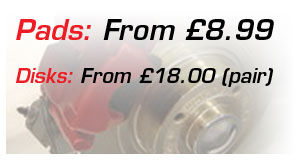 Pads from £8.00 Disk from £18.00